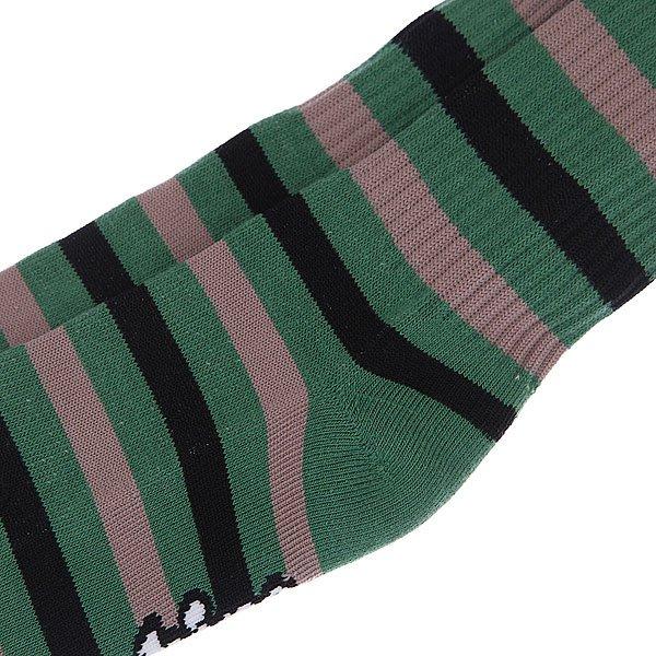 Носки средние Toy Machine Monster Stripe Green/Brown