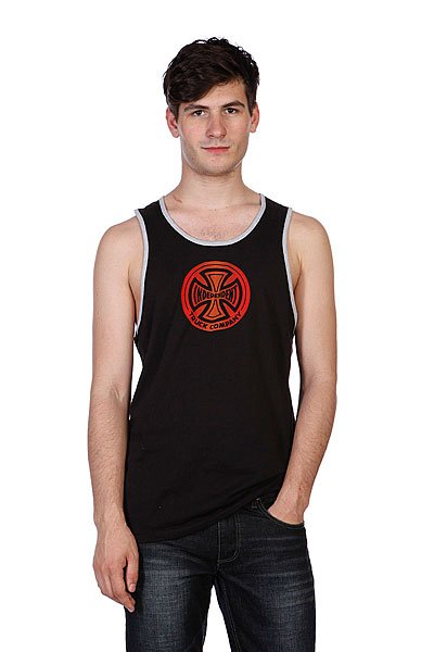 Майка Independent Fountain Tank Black/Heather Grey