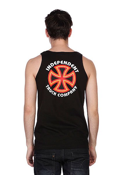 Майка Independent Bauhaus Cross Tank Black
