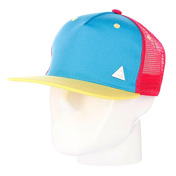 Бейсболка с сеткой True Spin 3 Tone Blank Trucker Cap Blue/Pink/Yellow