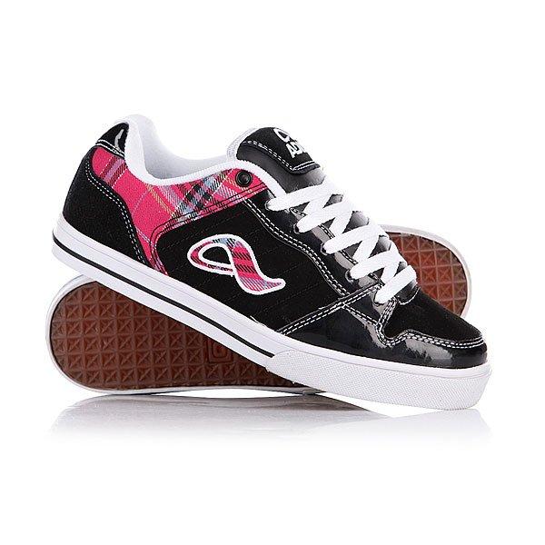 Кеды кроссовки женские Adio Betsey Black/Pink/White