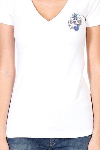 Футболка женская Santa Cruz Seahorse V-neck White