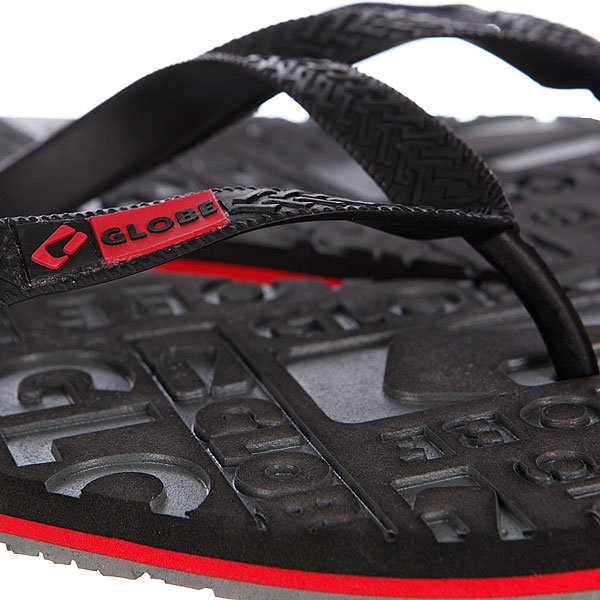 Шлепанцы Globe Closeout Black/Charcoal/Red