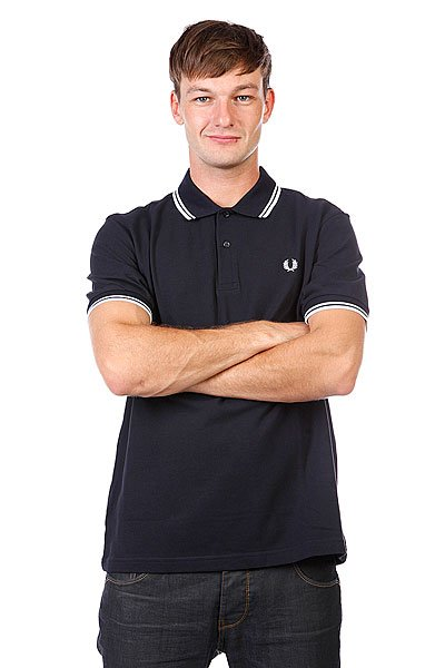 Поло Fred Perry Slim Fit Twin Tipped Navy