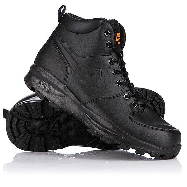 1c366d99 Купить ботинки зимние Nike ACG Manoa Leather Black/Total Orange  (454350-008) в интернет-магазине Proskater.by