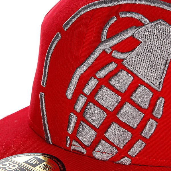 Бейсболка New Era Grenade Big Crop NewEra Red/Gray