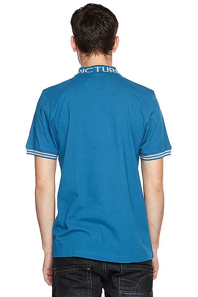 Поло Picture Organic College Men Polo Tee Blue Petrol