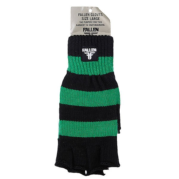 Перчатки женские Fallen Hunter Strip Fingerless Kelly Green/Black