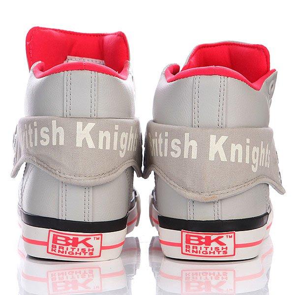 Кеды высокие женские British Knights Roco Ice/Neon Pink