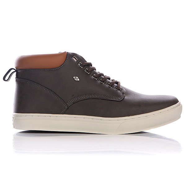 Кеды высокие British Knights Wood Dark Grey/Cognac