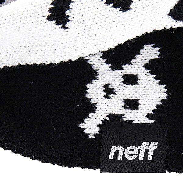 Шарф женский Neff Skulls Black
