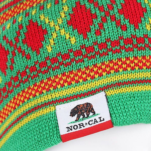 Шапка женская Nor Cal Hibernate Green/Yellow/Red