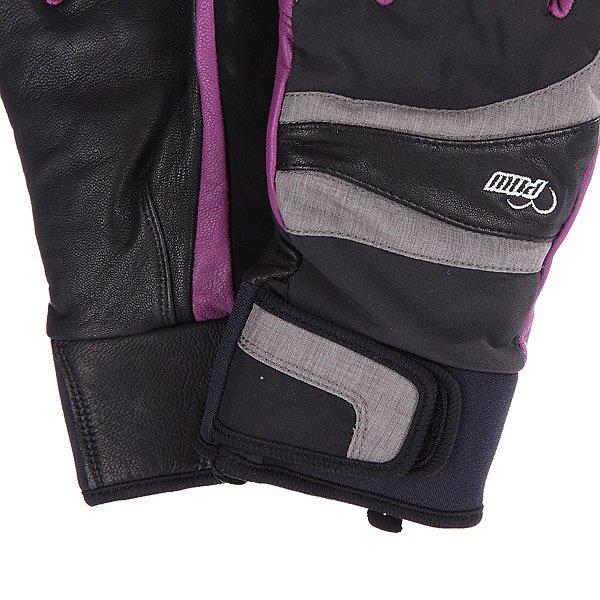 Перчатки сноубордические женские Pow Gem Grey