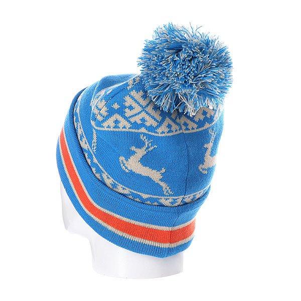 Шапка с помпоном Запорожец Deer Beanies Blue