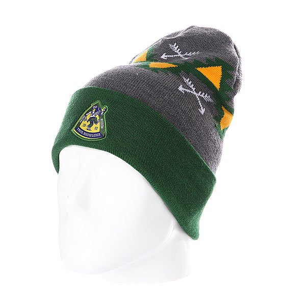 Шапка TrueSpin Native Wisdom Classic Beanie Green/Grey