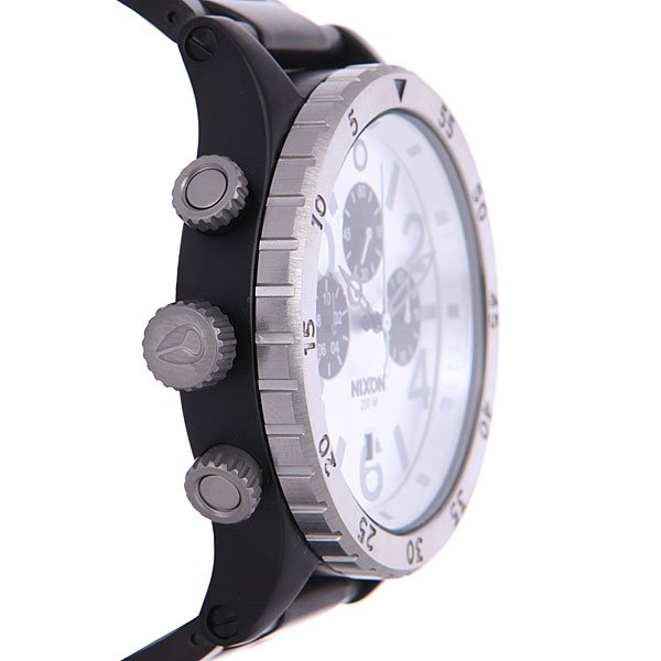 Часы Nixon 48-20 Chrono Black/Silver