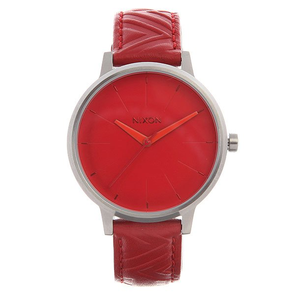 Часы женские Nixon Kensington Leather Red/Mod