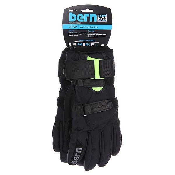 Перчатки сноубордические Bern Synthetic Removable Wristguard Gloves Black