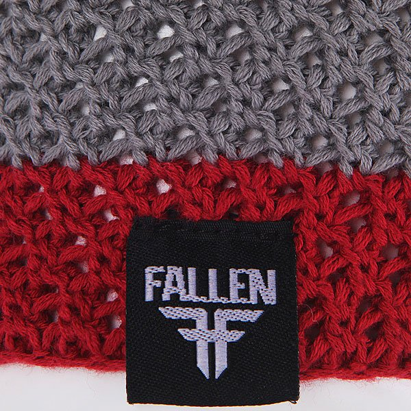 Шапка Fallen Buffalo Striped Knits Beanie Grey/Oxblood
