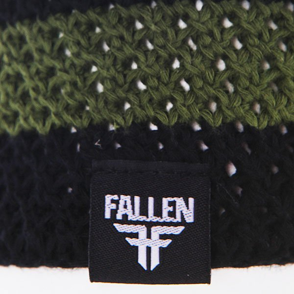 Шапка Fallen Buffalo Striped Knits Beanie Olive/Black
