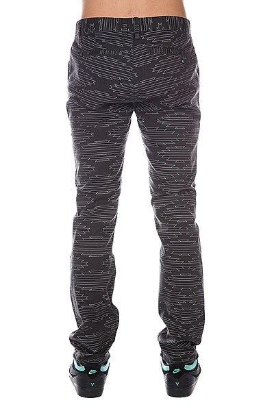 Штаны прямые Etnies Classic Slim Chino Pant Black/Grey