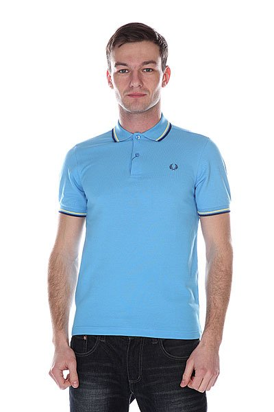 Поло Fred Perry Slim Fit Twin Tipped Shirt Blue