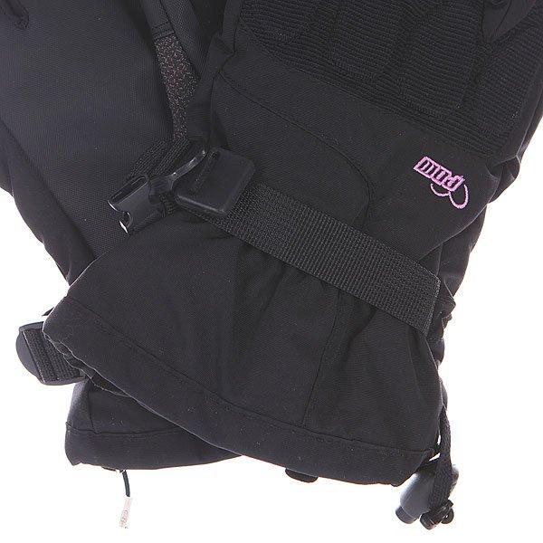 Перчатки сноубордические женские Pow Warner Glove Black