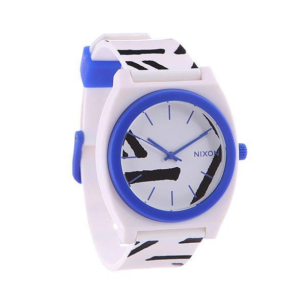 Часы Nixon Time Teller White/Cobalt