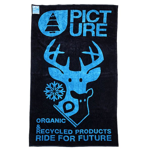 Полотенце Picture Organic Towel Dear Black/Blue