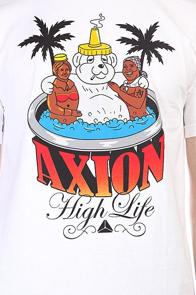 Футболка Axion Hot Tub Bear Tee White