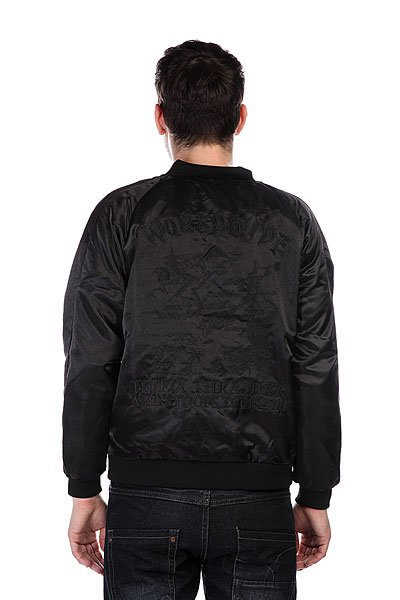 Бомбер Huf X Thrasher Satin Souvenir Jacket Black