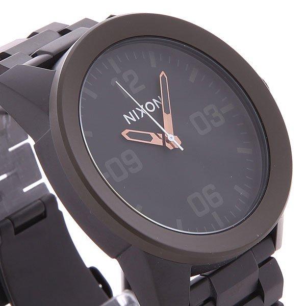 Часы Nixon Corporal Ss Matte Black/ Industrial Green