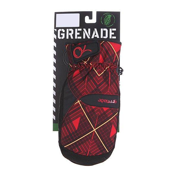 Варежки сноубордические женские Grenade Plaid Red