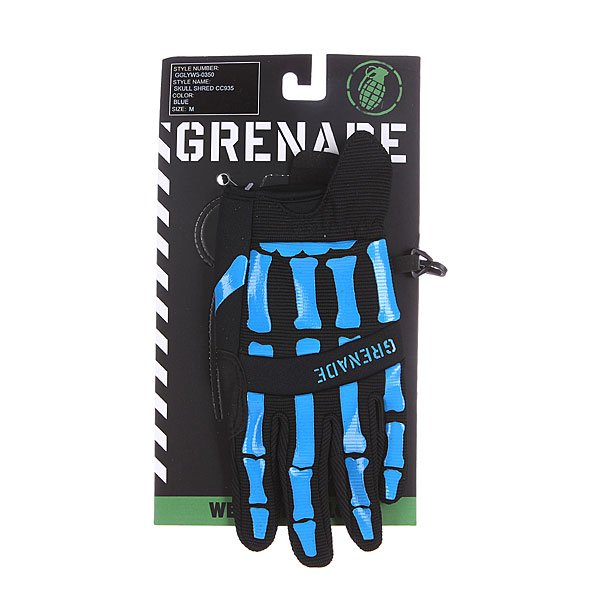 Перчатки детские Grenade Skull Shred Black/Blue