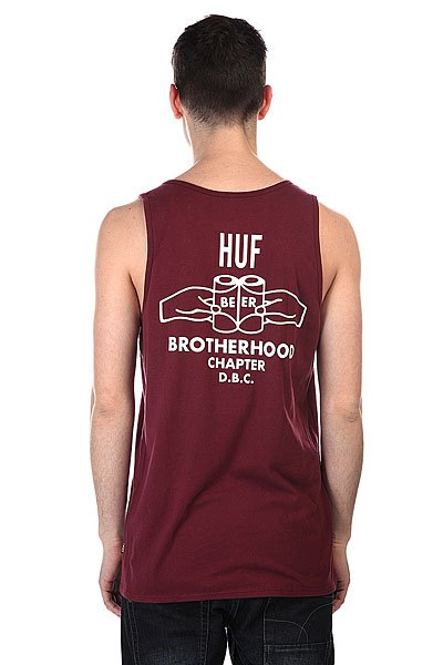 Майка Huf Brotherhood Tank Burgundy