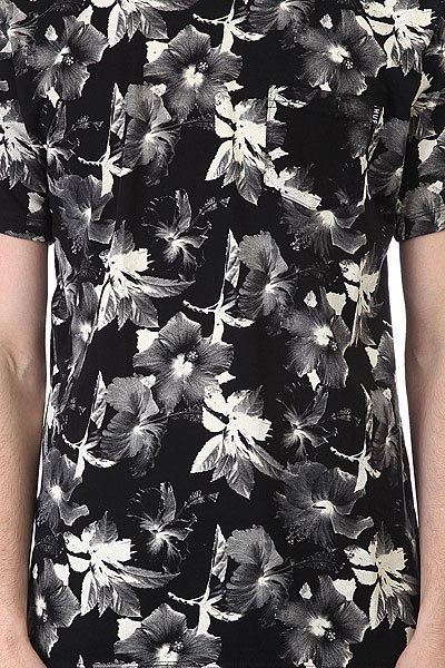Футболка Huf Floral Pocket Tee Black White