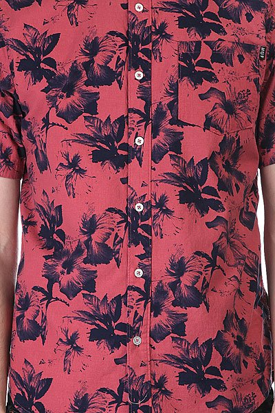 Рубашка Huf Floral S/S Woven Salmon Floral