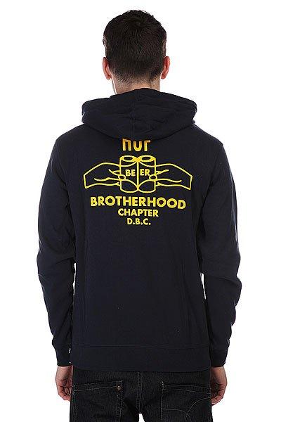 Толстовка Huf Brotherhood Zip Navy