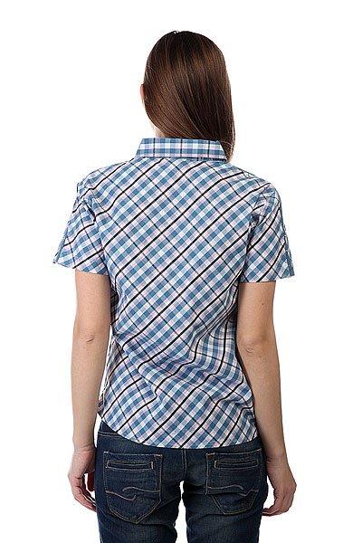 Рубашка в клетку женская Dickies Enid Short Sleeve Shirt Indigo Blue