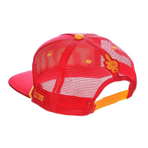 Бейсболка с сеткой TrueSpin True Trucker Red