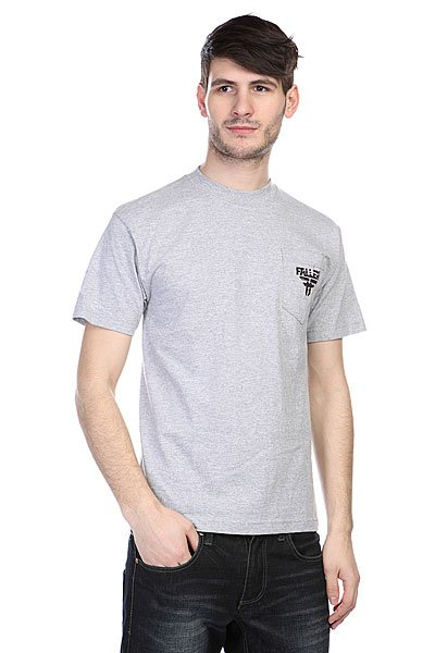 Футболка Fallen Feedback Pocket Tee Heat Grey/Black