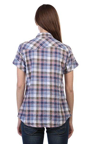 Рубашка в клетку женская Dickies Ss Plaid Shirt Rainstorm Olive Plaid