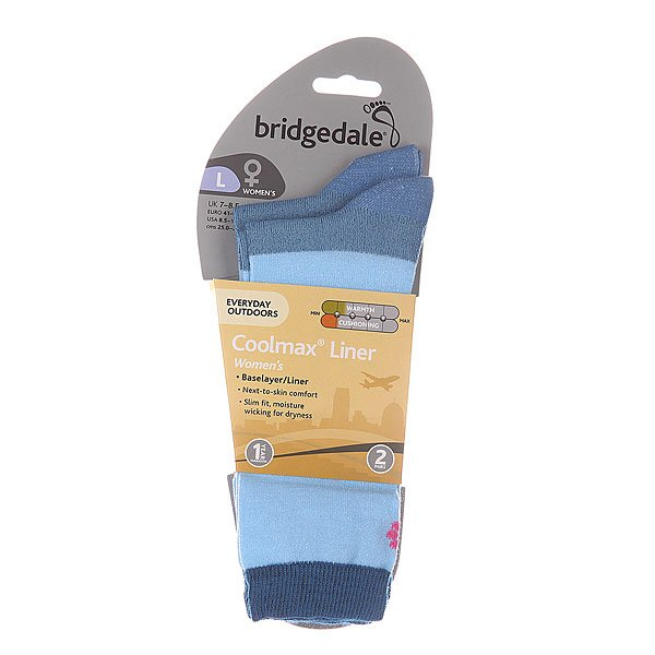 Носки средние женские Bridgedale Everyday Outdoors Coolmax Liner Ws X 2 Sky