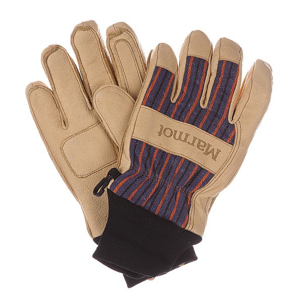 Перчатки сноубордические Marmot Lifty Glove Tan/Electric Blue