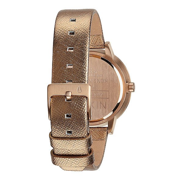 Часы женские Nixon Kensington Leather Rose Gold Shimmer
