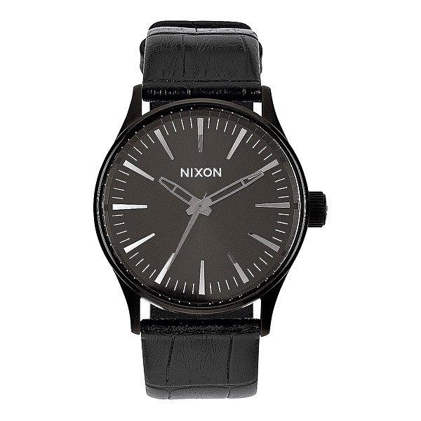 Часы Nixon Sentry 38 Leather Black Gator