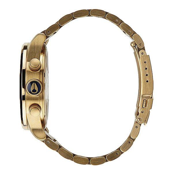 Часы Nixon Sentry Chrono Gold/Blue Sunray