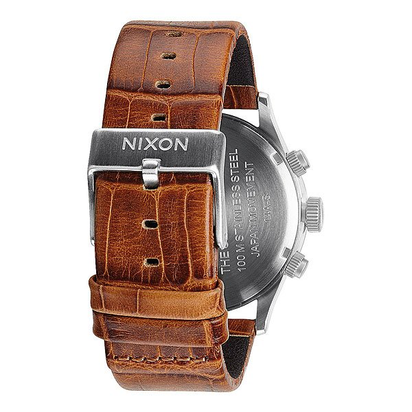 Часы Nixon Sentry Chrono Leather Saddle Gator