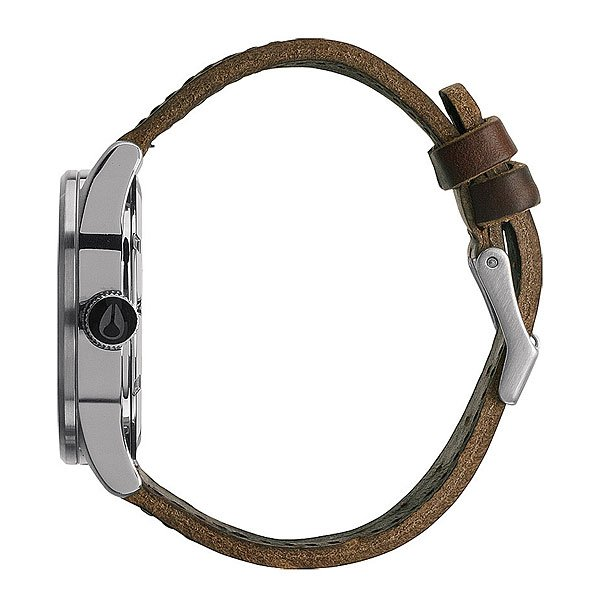 Часы Nixon Sentry Leather Silver/Brown