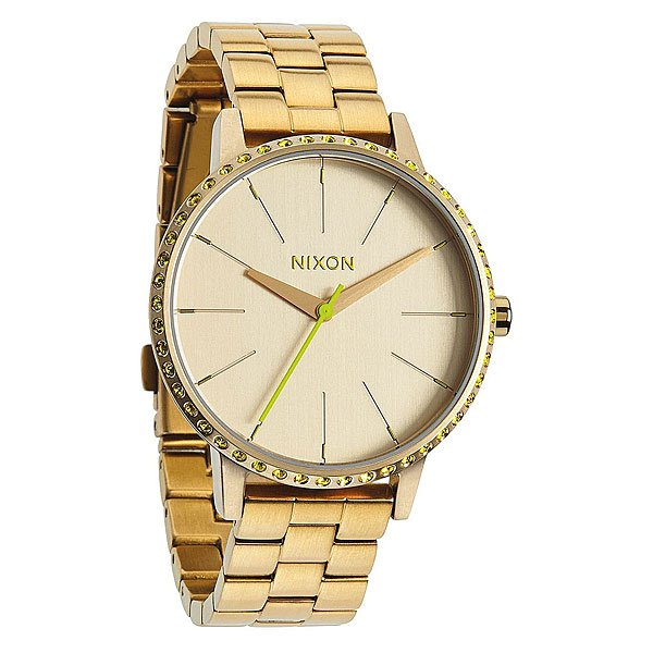 Часы женские Nixon Kensington All Gold/Neon Yellow
